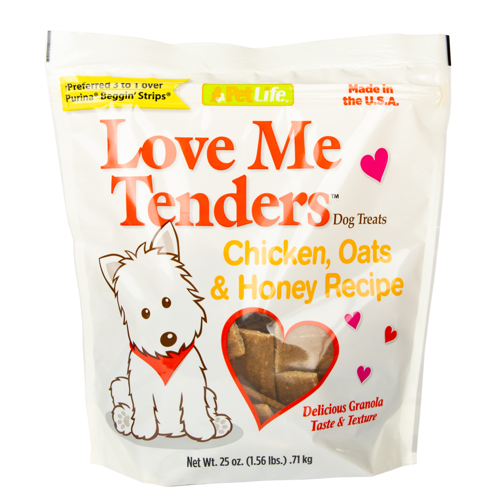 Pet Life Love Me Tenders Chicken, Oats and Honey Recipe