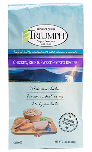Triumph Chicken, Rice & Sweet Potato Cat Food