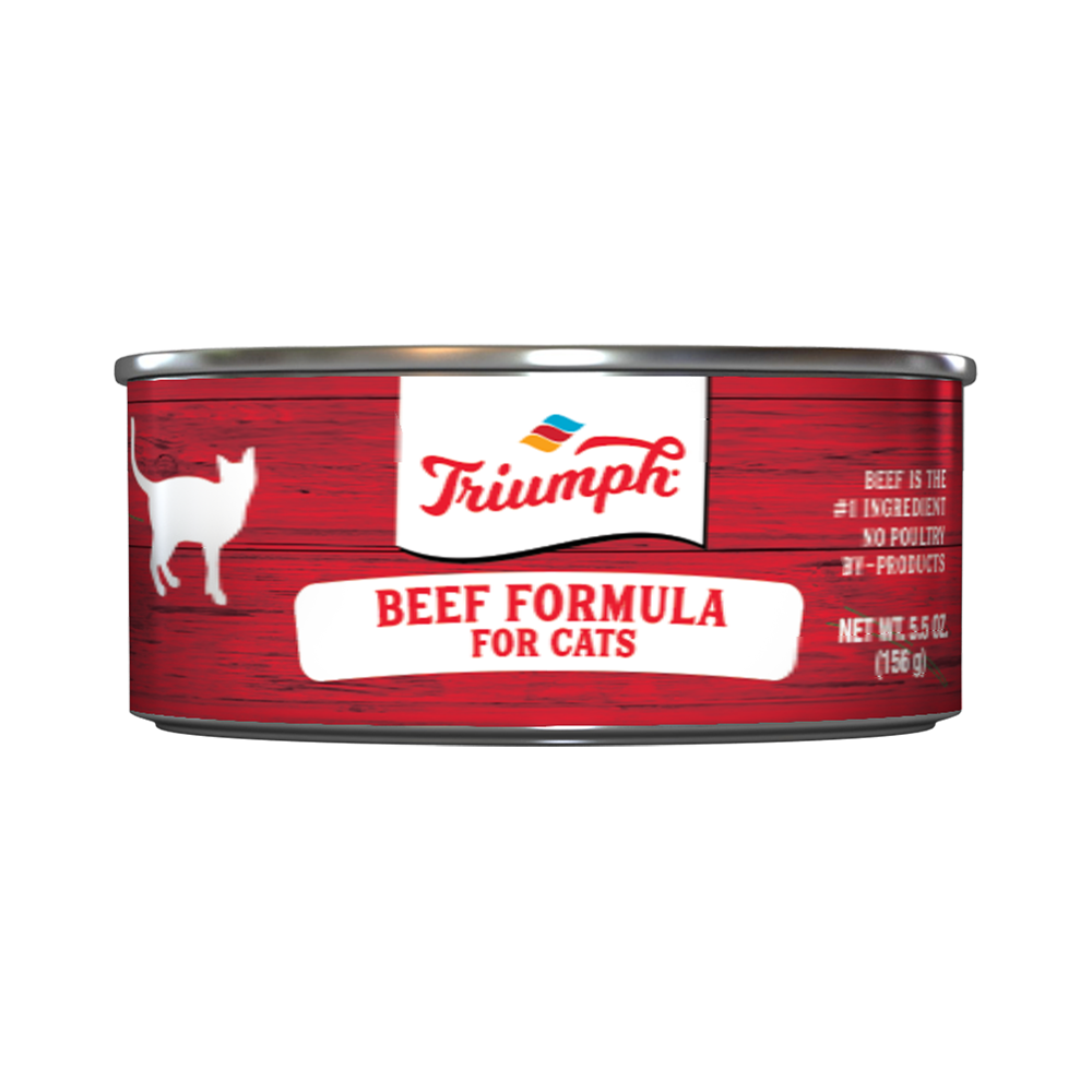 Triumph Beef Formula Cat Food