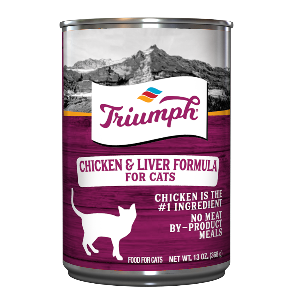 Triumph Chicken and Liver Formula Cat Food