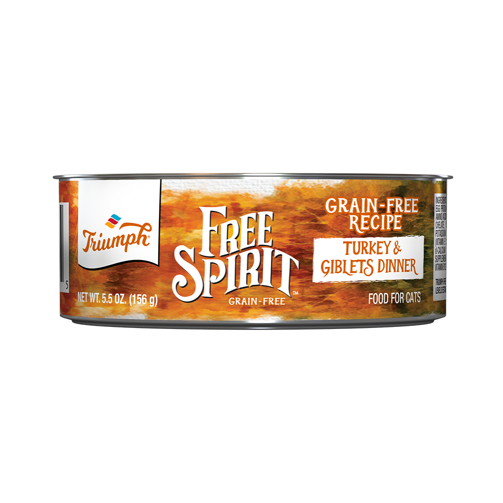 Triumph Free Spirit Grain Free Turkey & Giblets Dinner Cat Food