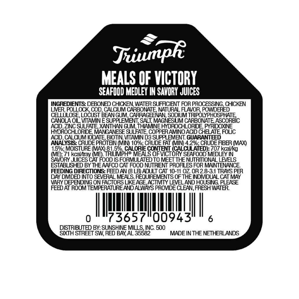 Triumph Meals of Victory Seafood Medley Cat Food