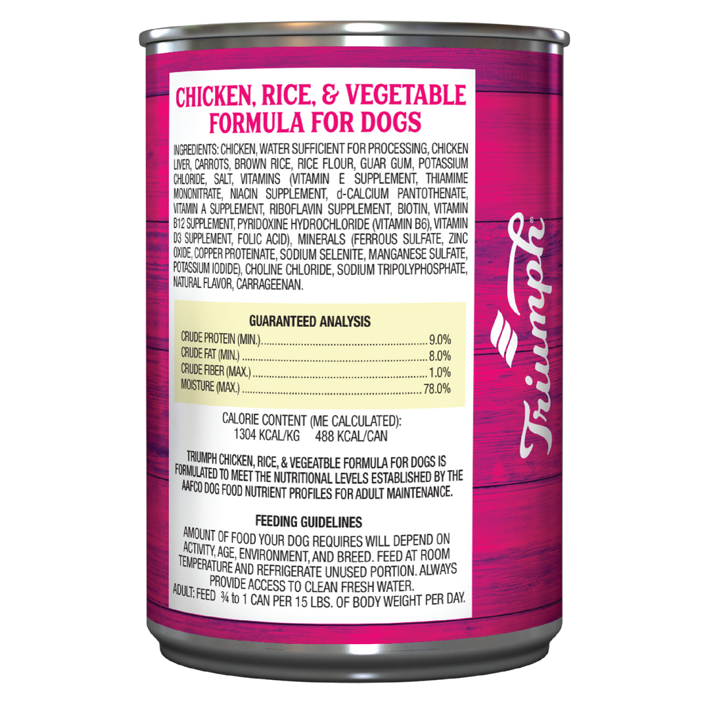 Triumph Chicken, Rice and Vegetable Formula For Dogs
