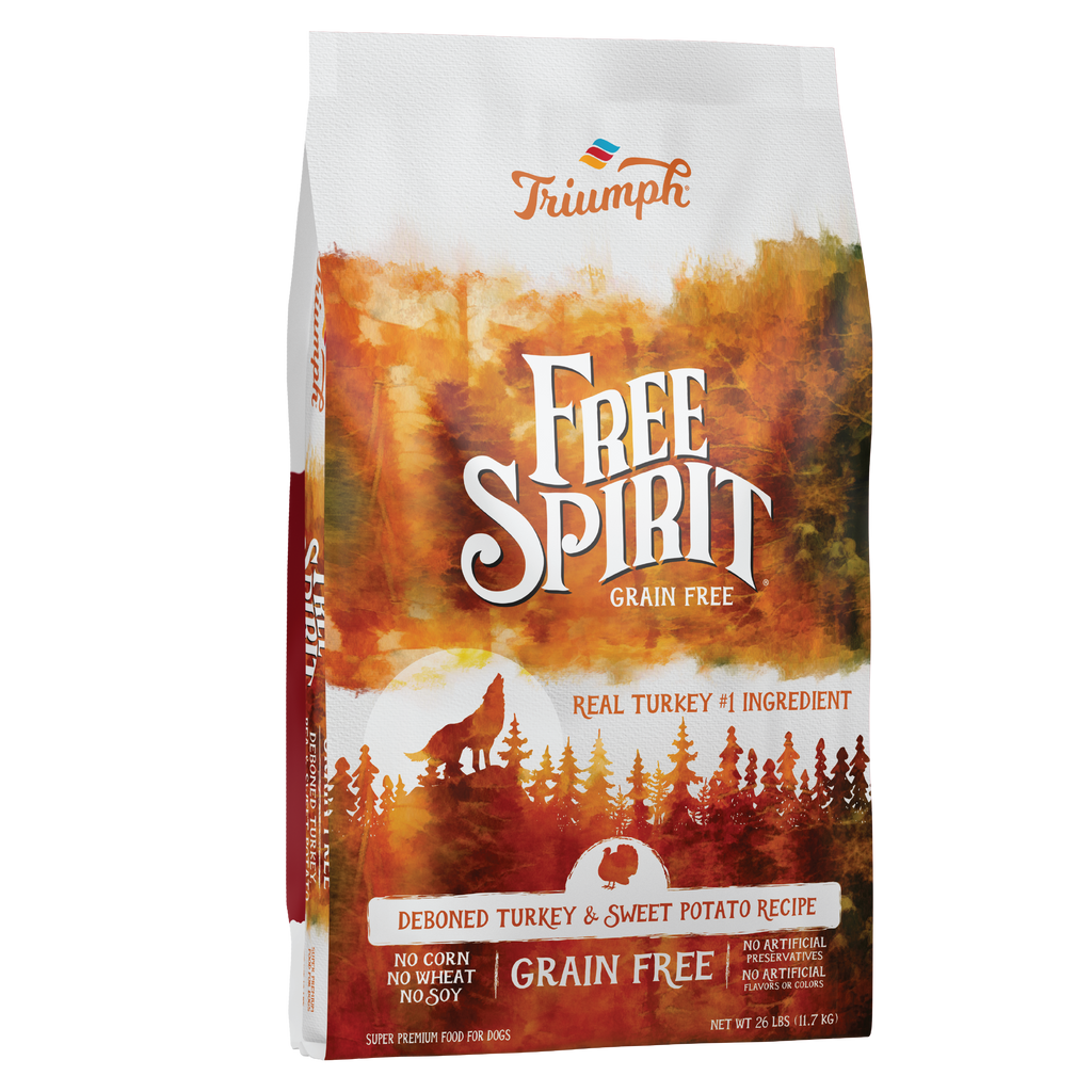 Triumph Free Spirit Grain Free Turkey, Pea, & Sweet Potato Recipe Dog Food