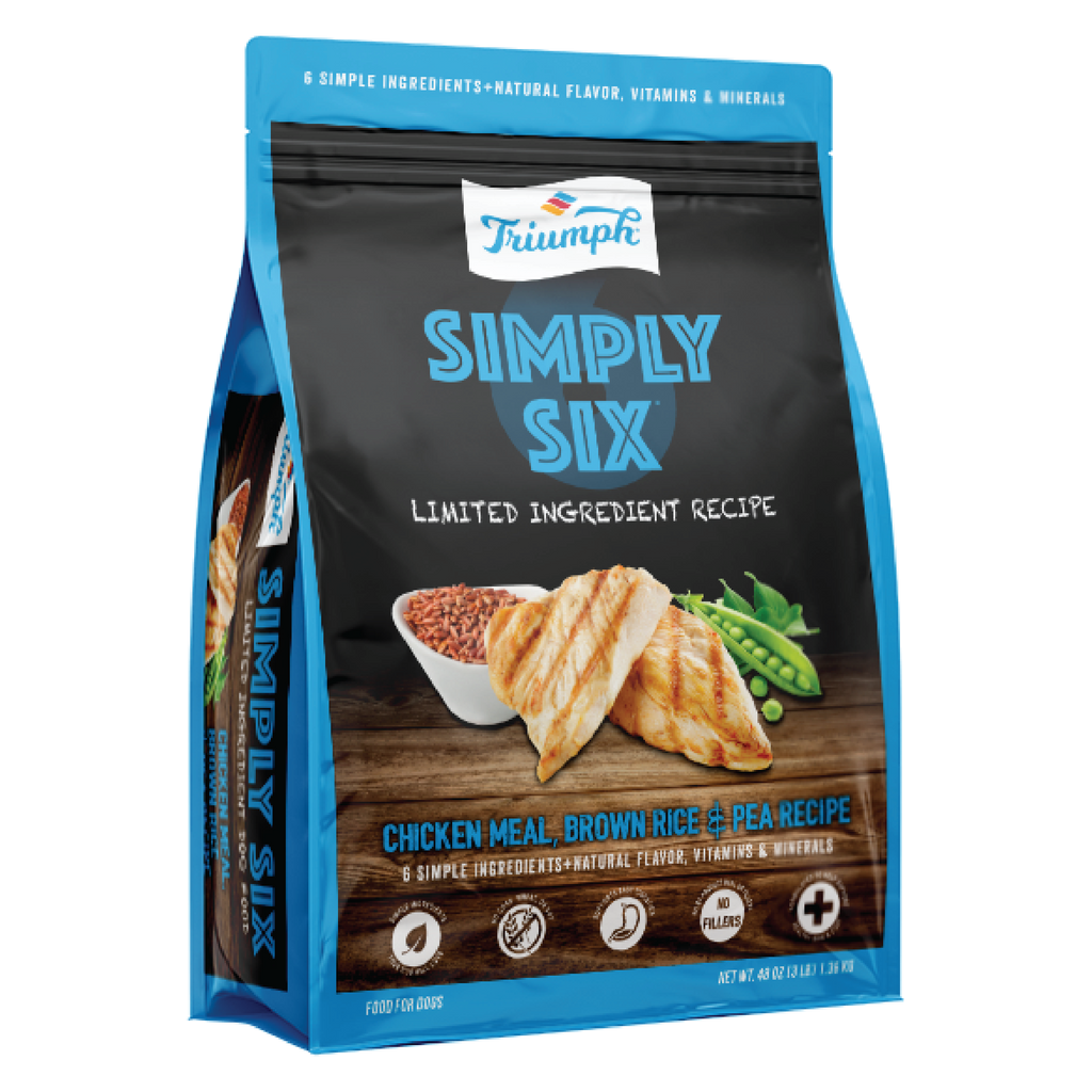 Simply Six® Chicken, Brown Rice, & Pea Recipe Dog Food