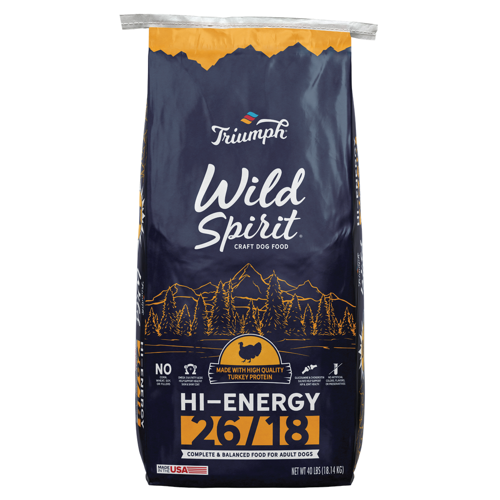 Triumph Wild Spirit Hi-Energy 26/18 Dog Food 40LB