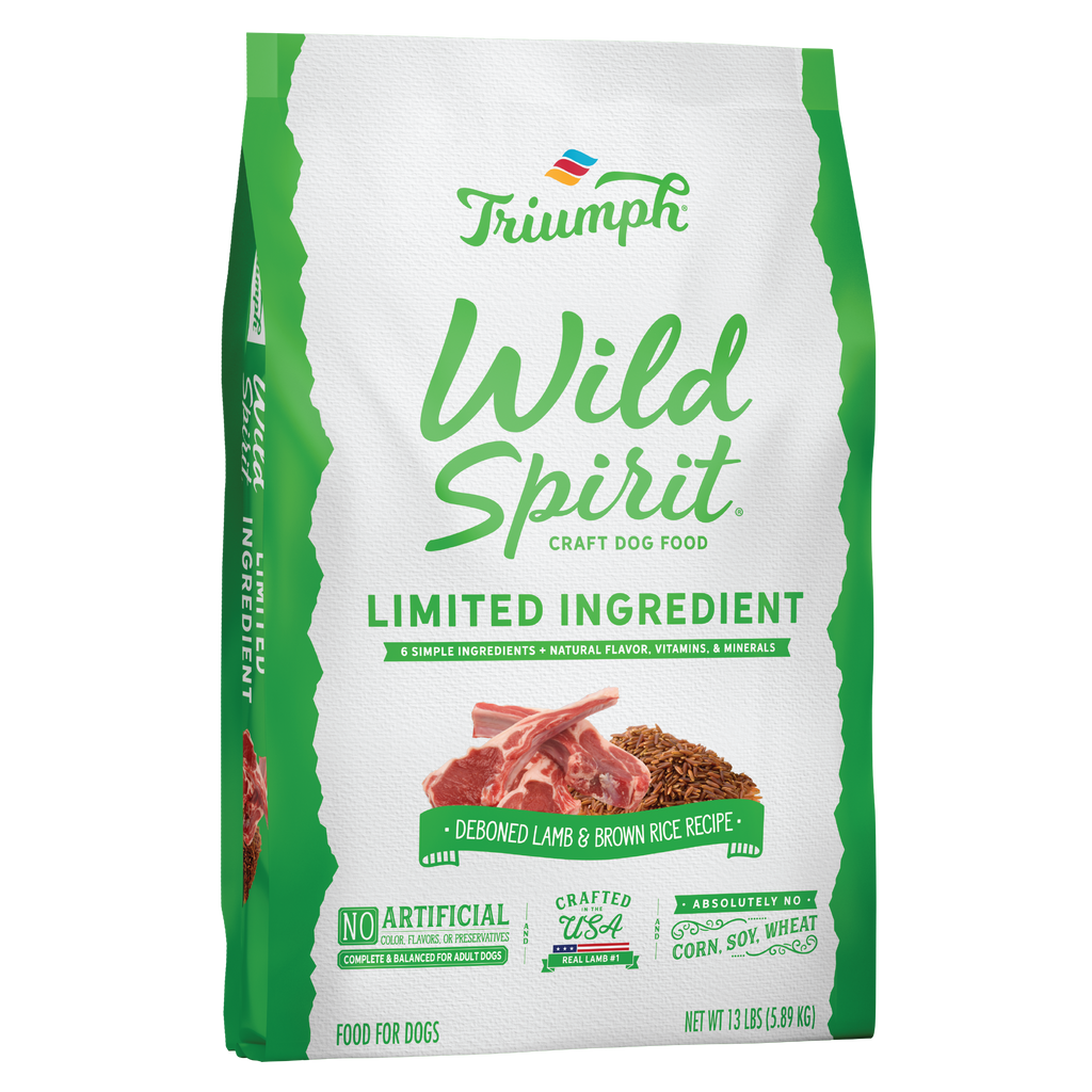Triumph Wild Spirit Limited Ingredient Lamb & Brown Rice Recipe Dog Food