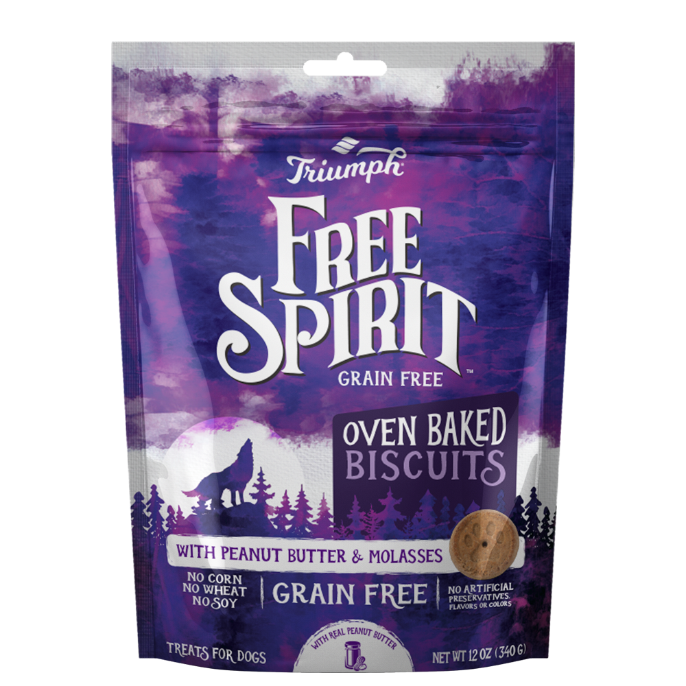 Triumph Free Spirit Grain Free Dog Biscuits with Peanut Butter and Molasses