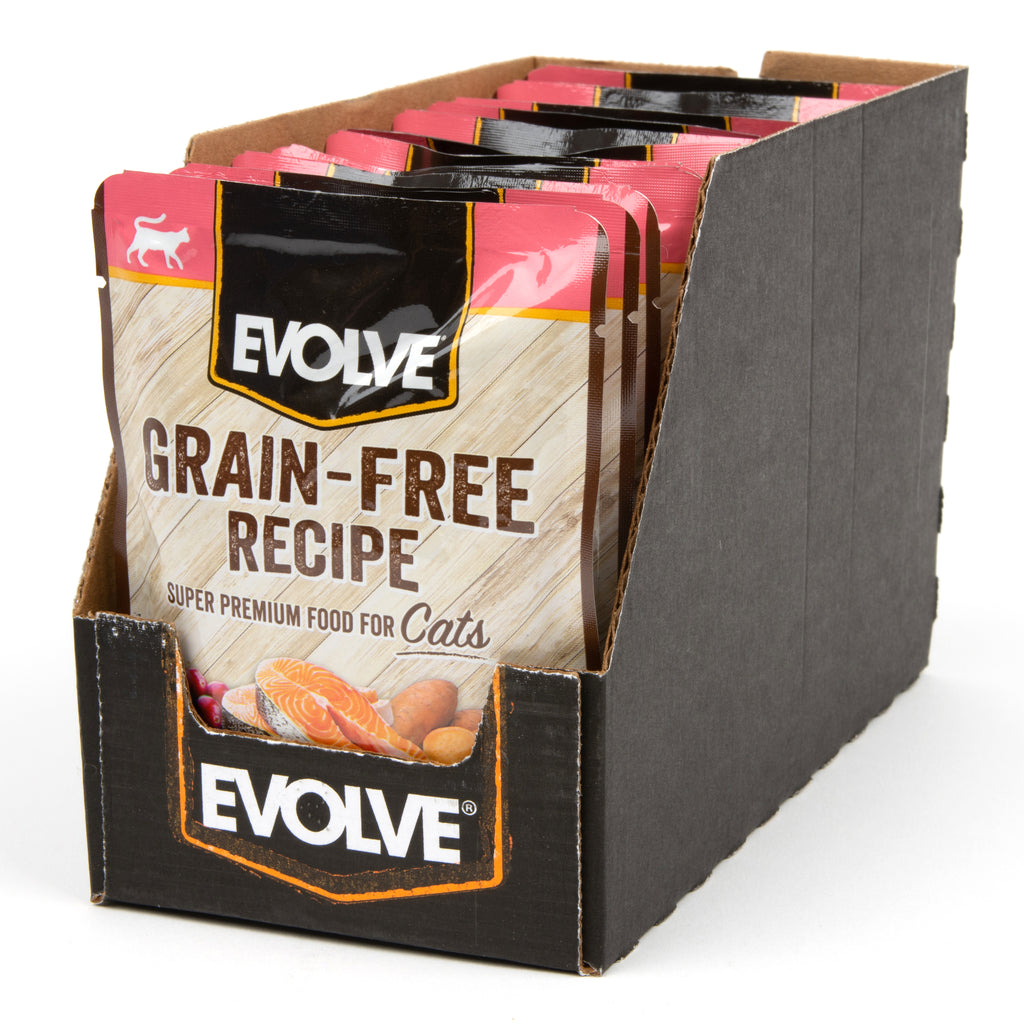 Evolve Grain Free Salmon & Sweet Potato Stew in Gravy Cat Food