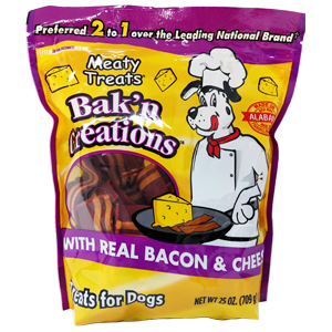Meaty Treats Bak'n Creations Bacon & Cheese Dog Treats