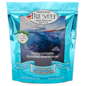 Triumph Whitefish, Egg & Sweet Potato Formula Cat Food