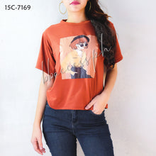Load image into Gallery viewer, Solid Color Graphic Tees 01