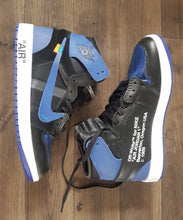 Load image into Gallery viewer, Air Jordan 1 Black Royal Blue Off-White