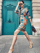 Load image into Gallery viewer, Vintage Exquisite Printing Smart Waist Dress