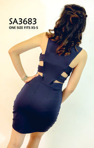 Cross-back Bodycon Dress