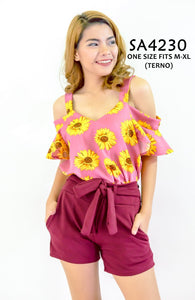 Floral Cold Shoulder Co-ords
