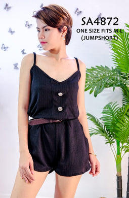 Knit Plain Romper/Jumpsuit