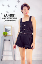 Load image into Gallery viewer, Ruffled Shorts Plain Romper