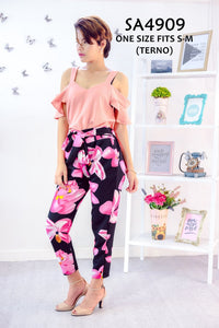 Plain Printed Pants Co-ords