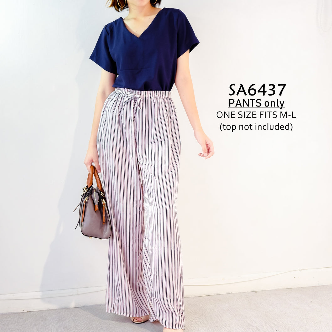 Wide Leg Stripped Pants
