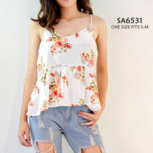 Load image into Gallery viewer, Spaghetti Strap Floral Top