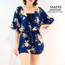 Load image into Gallery viewer, Floral Bellsleeves Romper