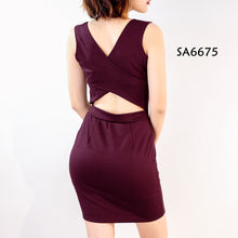 Load image into Gallery viewer, Cross-back Bodycon Dress