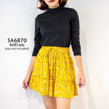Load image into Gallery viewer, Floral/Floral A-line Skirt