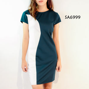 Short-sleeve Office Dress