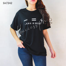 Load image into Gallery viewer, Solid Black Statement T-Shirt