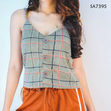 Load image into Gallery viewer, Checkered Cami Top