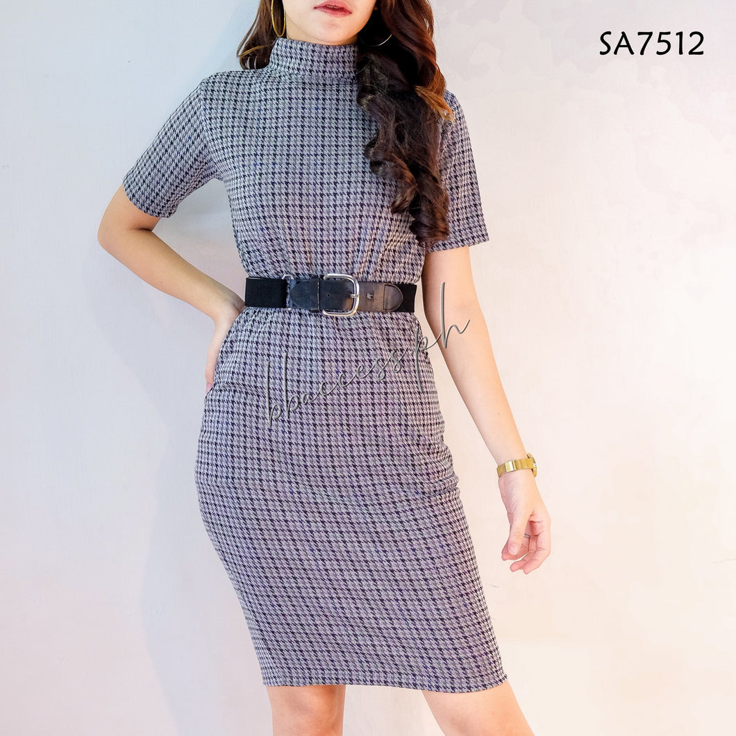 2in1 Checkered Top Blouse Skirt Co-ords