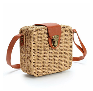 Straw Square Ratan Bag