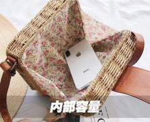 Load image into Gallery viewer, Straw Square Ratan Bag