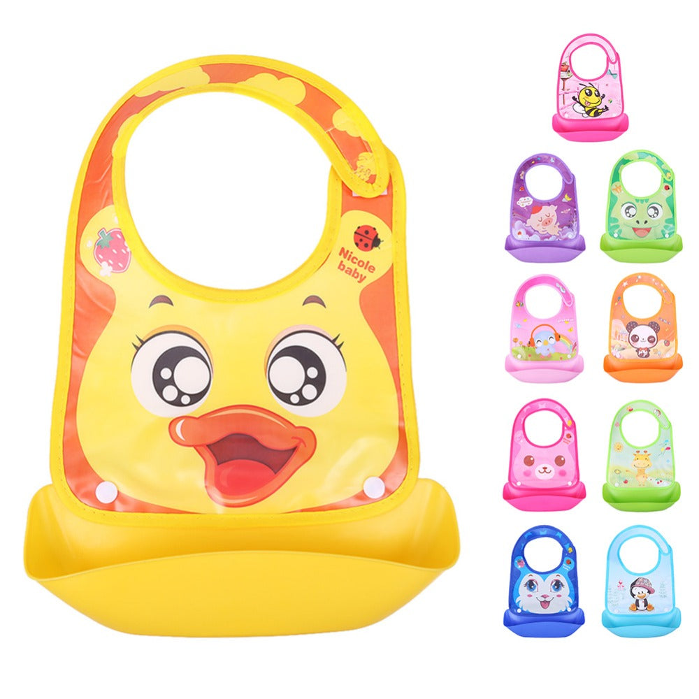 Newborn Baby Feeding Bibs Cartoon Food Saliva Apron Towel Bids Kids Feeding Burp Cloths Towel Baby Care Feeding Accessories