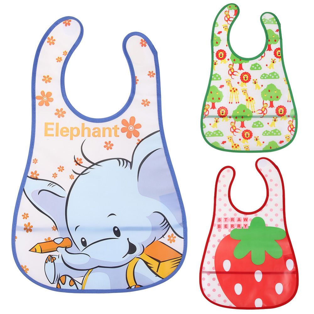 Newborn Baby Bib Waterproof Lunch Feeding Bibs Baby Cute Cartoon Feeding Cloth Towels Children Long Sleeve Apron Burp Clothes