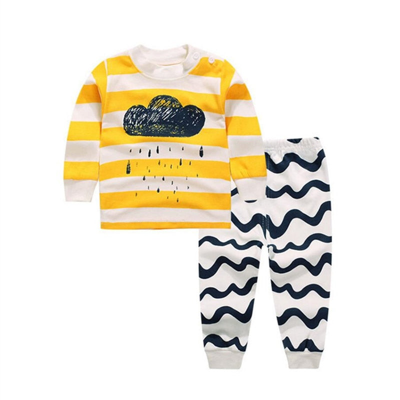 Kids Printed T-shirt + Pant Clothing Set