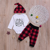 Toddler Casual Plaid Hoodie Sweatshirt + Pant Outfit Sets