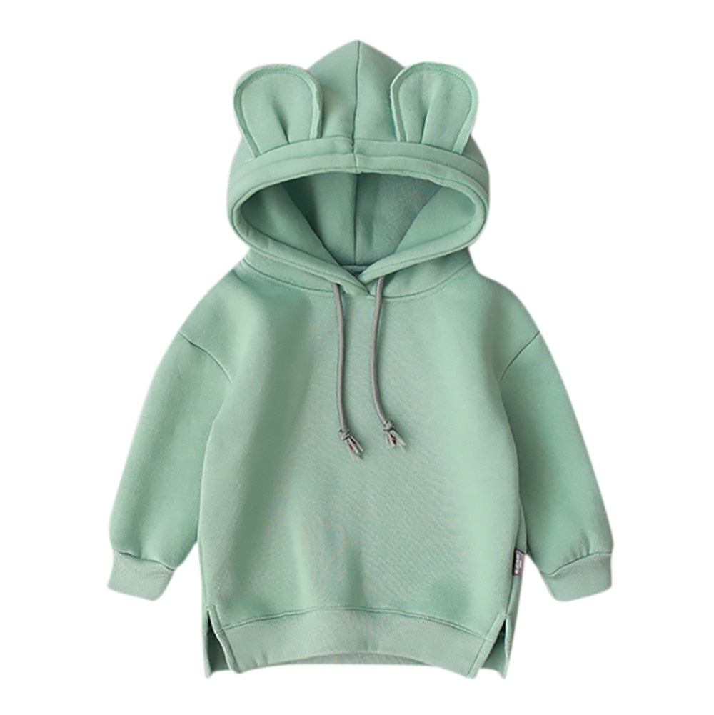 Children Sweatshirts Baby Girl Clothes 3D Ear Boys Hoodies Girls Autumn Winter Tops Kids Casual Sportswear Infant Clothing