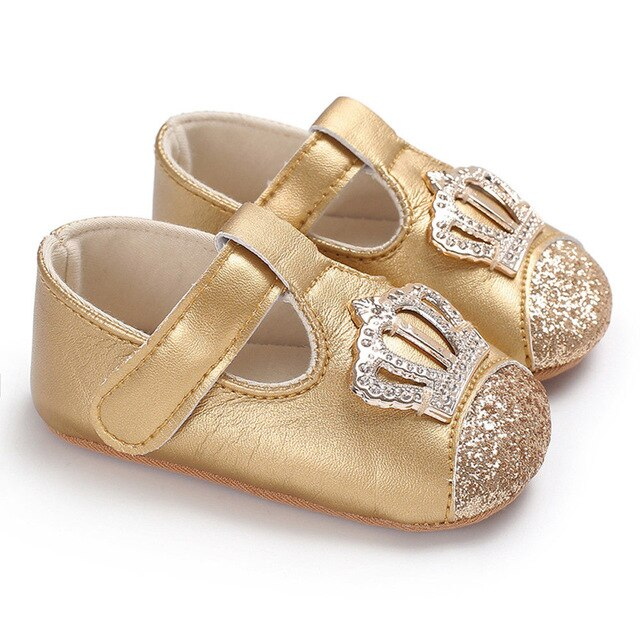 Anti-slip Prewalker Soft Sole Leather Crib Shoes