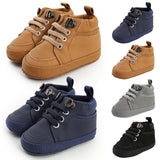 Comfy Winter Kids Solid Cross-tied Shoes