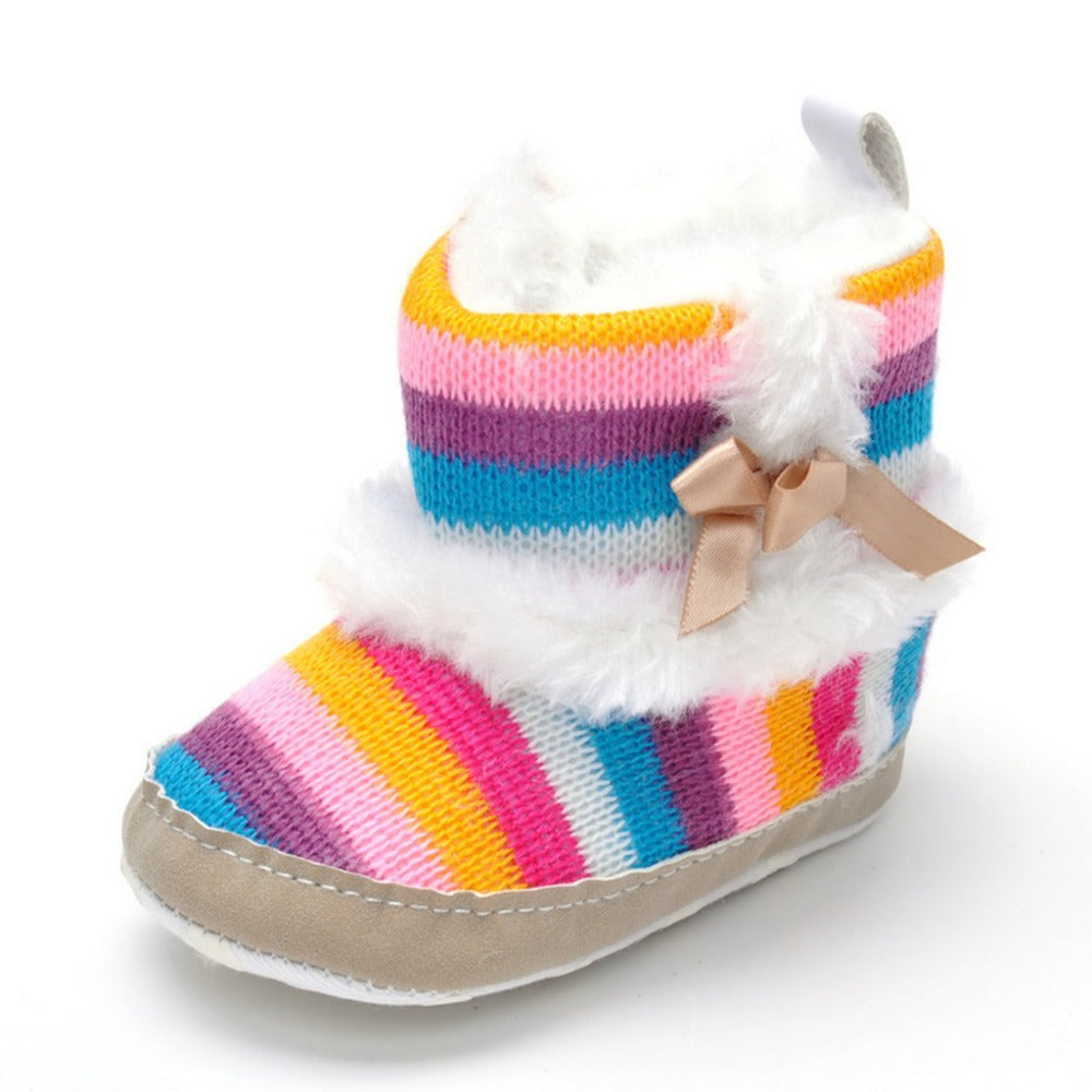 Winter Rainbow Plush Boots