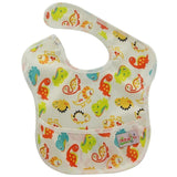 Baby Bibs Cartoon Print Baberos Bebes Baby Waterproof Superbib with Pocket Reusable Infant Boys Girls Burp Clothes
