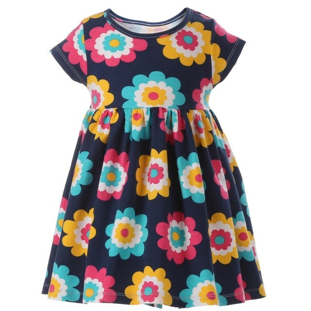 Toddler Girl's Floral Summer Beach Dress