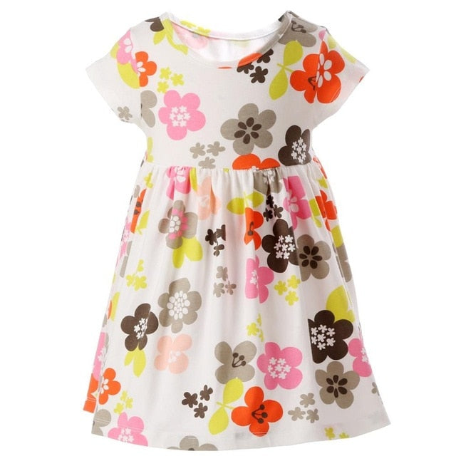 Baby Girl's Floral Summer Beach Dress