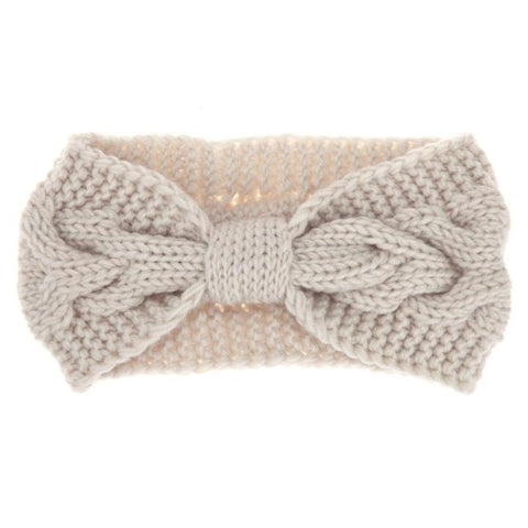 Soft Baby Girls Big Bow Twist Crochet Headbands