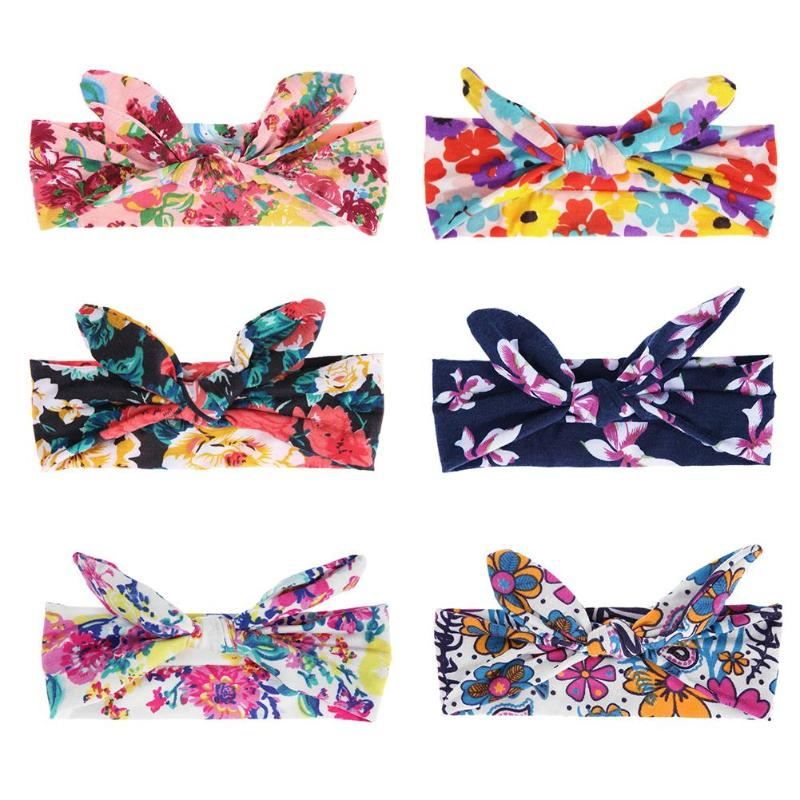 Girls Floral Knot Colorful Headbands