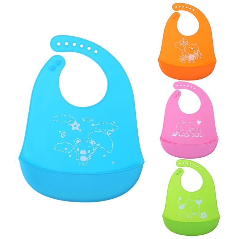Kids Soft Silicone Waterproof Feeding Bibs