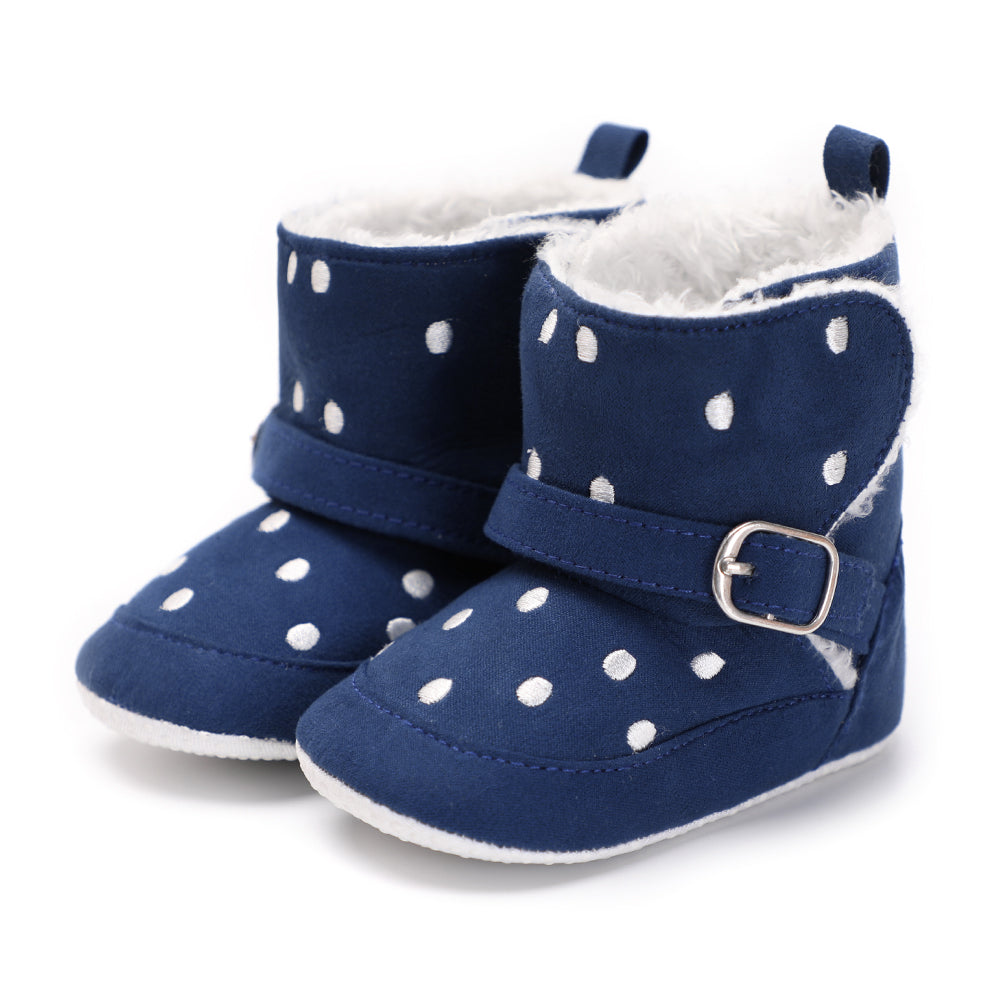 My Little Darlin' Polka Dot Fur-Lined Boots