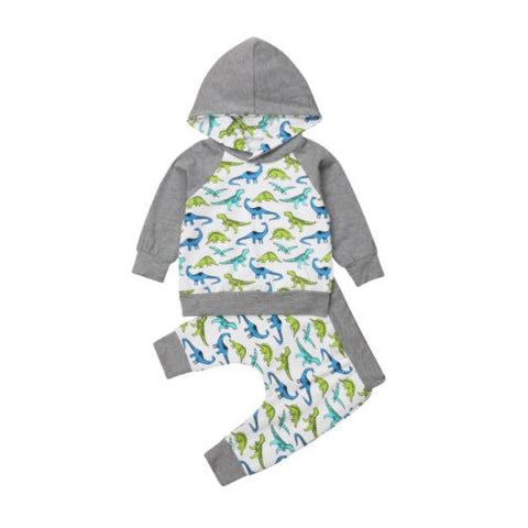 Newborn Baby Boys Girls Clothing Set Hooded Sweater Tops Casual Cute Animals Pants Outfits Clothes Set Baby Boy 0-24M